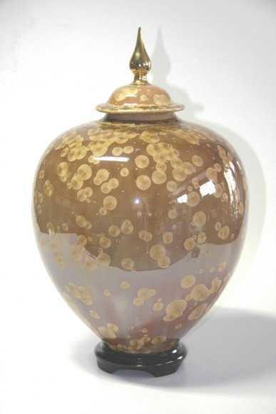 Large Citrine Crystal Ginger Jar and Base 45cm #8007