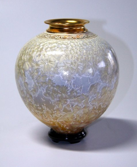 Topaz Crystal small Blossom Vase and Base #8217
