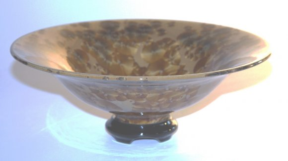 Tortoiseshell Crystal Bowl and Base #8250